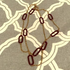 Black and gold J crew necklace